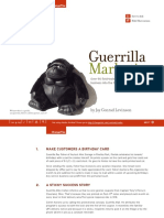 Guerrilla Marketing - Over 90 Field-Tested Tactics to Get Your Business Into the Frontline