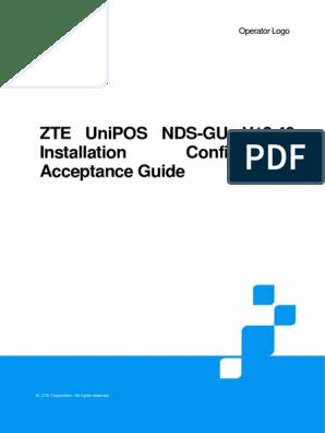 GU_ST_ZTE UniPOS NDS-GU V13 40 Installation Configuration