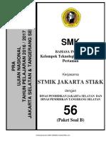 Soal Pra UN B. Inggris SMK TKP Paket B (56) 2018 - Mahiroffice.com