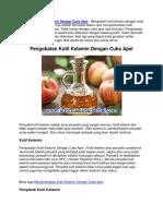 Pengobatan Kutil Kelamin Dengan Cuka Apel