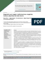 Diagnóstico Por Imagen Malformaciones Congénitas y Adquiridas Del Oido Interno