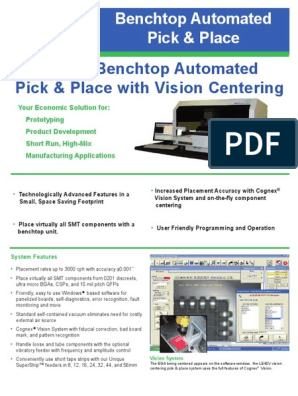 Le40v Automated Pick & Place | Automation | Computing