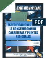 1. Manual Centroamericano de Especificaciones