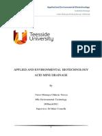 Acid Mine Drainage Report