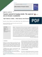 Ligature Material in Hanging