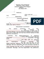 SampleJudicial Affidavit.doc