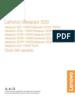 Guía Del Usuario Lenovo Ideapad 320