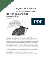 Estudio de Geometria de Una Trampa y Cálculo de Volumen de Roca Para Método Volumetrico