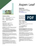 Aspen Leaf Newsletter - Vol 2 - Issue 4 - September 8 2010