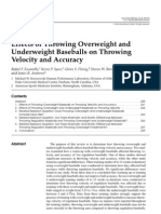 Escamilla et al. Effects of Throwing Overweight and Underweight Baseballs on Throwing Velocity and Accuracy