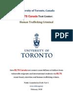 University of Toronto Human Trafficking Criminal