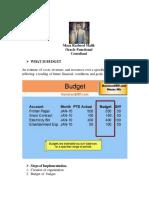 Oracle Budget Setup