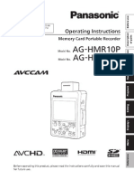 AG-HMR10 Operating Manual