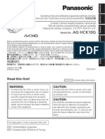 AG-HCK10 Operating Manual