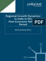 Biswa Swarup Misra-Regional Growth Dynamics in India in the Post-Economic Reform Period (2007)