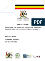 Press Statement Joint NDA NMS JMS MoH - DRUGS IN UGANDA