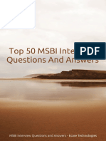 MSBI Interview Questions and Answer Ecare Technologies