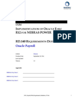 Payroll RD140 Requirements Definitions V1