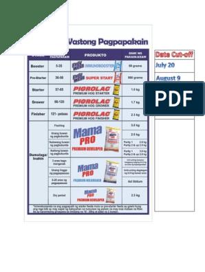 Pigrolac Feeding Guide