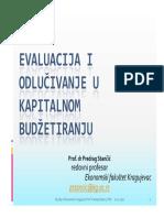 6. Ocena i Rangiranje u Kapitalnom Budzetiranju