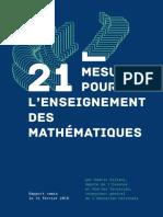 21 Mesures Pour Enseignement Des Mathematiques