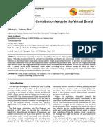 Evaluasi Pada Pengguna Nilai Kontribusi Pada Komunitas Virtual Brand