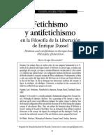 Fetichismo y Antifetichismo en La Filosofía de La Liberación de Enrique Dussel