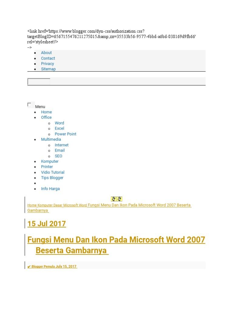 fungsi menu bar home pada microsoft powerpoint 2007