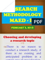 Report Research Methodology