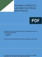 Elementos Para El Proyecto de Instalaciones Electricas Industriales
