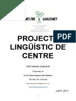 Projecte lingüístic del CEIP Mestre Guillemet