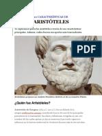 10 Características de Arisstoteles