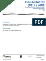 Bell Wire Spec Sheet