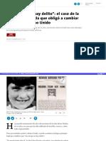 Sin Cuerpo No Hay Delito El Caso de La Nina Desaparecida Que Obligo a Cambiar Las Leyes en Reino Unido