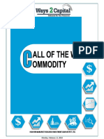 Commodity Research Report 12 February 2018 Ways2Capital