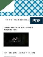 group 1 - presentation task