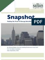 Finding the Proof of Energy Retrofits | Snapshot | The Sallan Foundation
