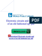 Electronic Circuits and Secrets of an Old Fashioned Spy PDF