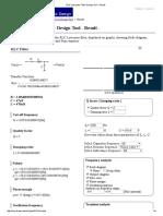 RLC Low-pass Filter Design Tool - Result -_1000hz_cut_off