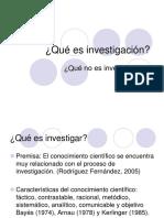 Qué Es y Qué No Es Investigación.ppt