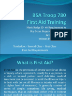 Boy Scout First Aid Merit Badge Training