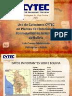 05 Uso de Colectores Cytec en Plantas de Flotación de Polimetálicos en la Minería de Bolivia - Luis Cuevas   Petroquim.pdf