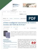 ¿Cómo Configurar Una Lectora de Control de Acceso AR-721H de SOYAL