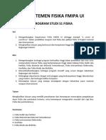 Informasi Program Studi S1 Fisika