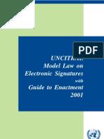 UNCITRAL Electronic Signature 2001