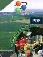 Projeto Polos de Desenvolvimento Integrado Do Banco Do Nordeste - Balanço Social 1998-2001
