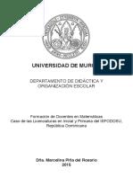 Formación de docentes en Matemáticas. Caso dominicano.
