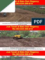 WA 083834366818,Jual Tanah Di Batu