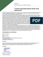 Reeducation  Hernie Inguinale Directe - 2015-01-09