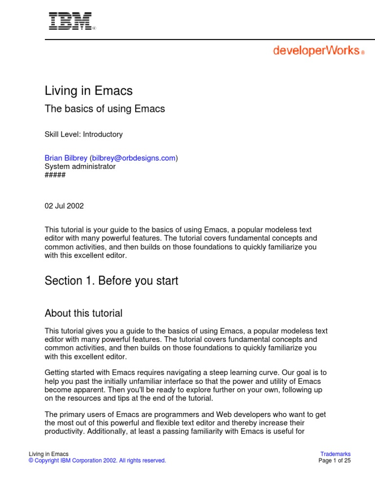 Living in Emacs | Gnu | Keyboard Shortcut